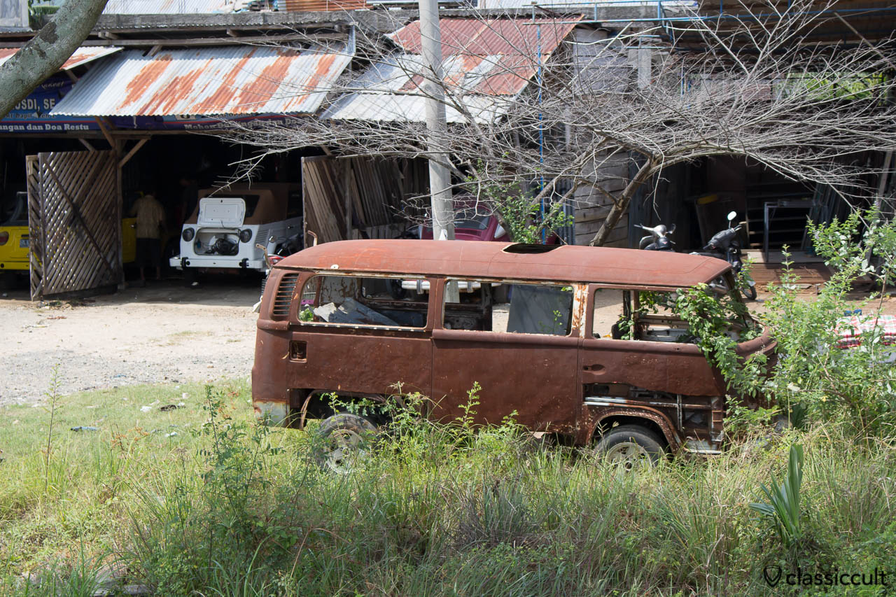 VW Bay Bus rusting in Aceh Sumatra