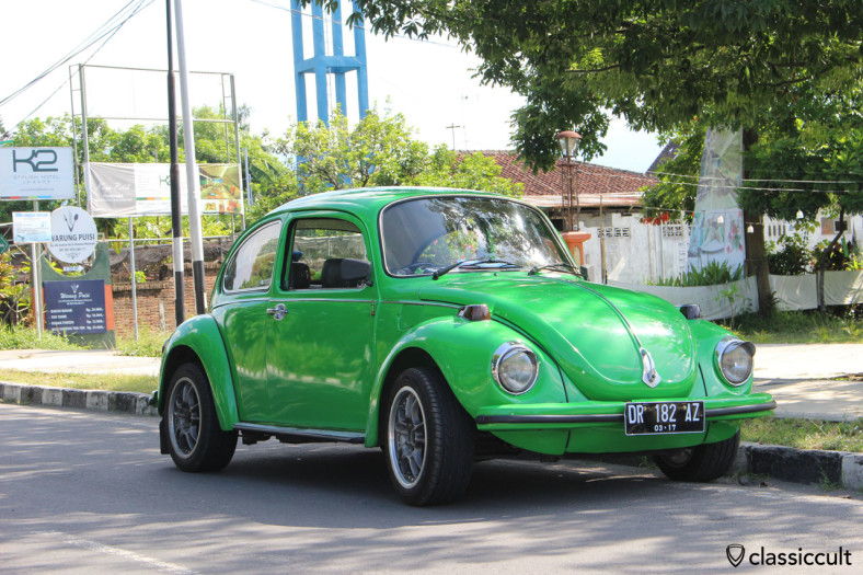 VW Beetle 1303 front, Mataram, Lombok, Indonesia, March 1, 2014