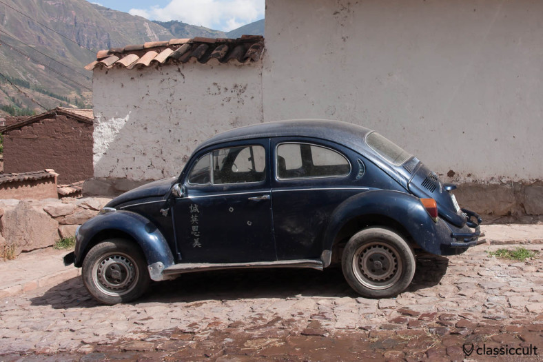 VW Beetle at the Sacred Valley, Peru, May 12, 2013