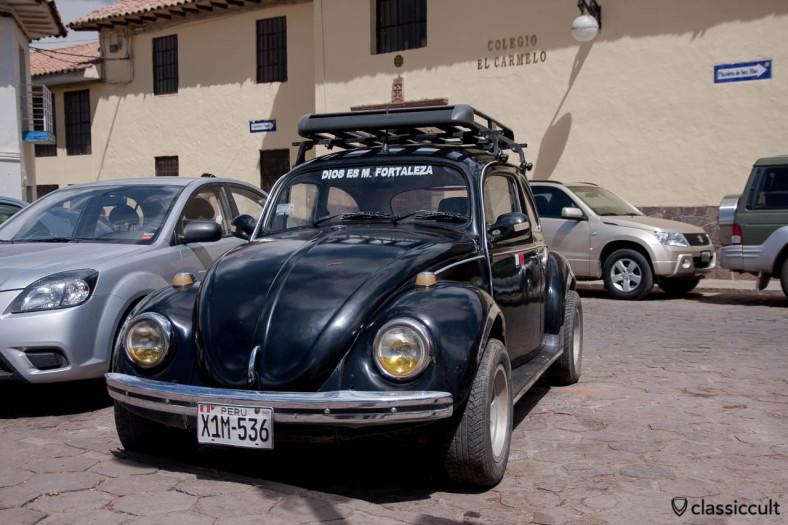 VW Beetle near Colegio el carmelo Cusco, Peru, May 11, 2013