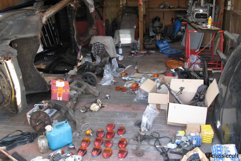 VW Beetle restoration disassembling