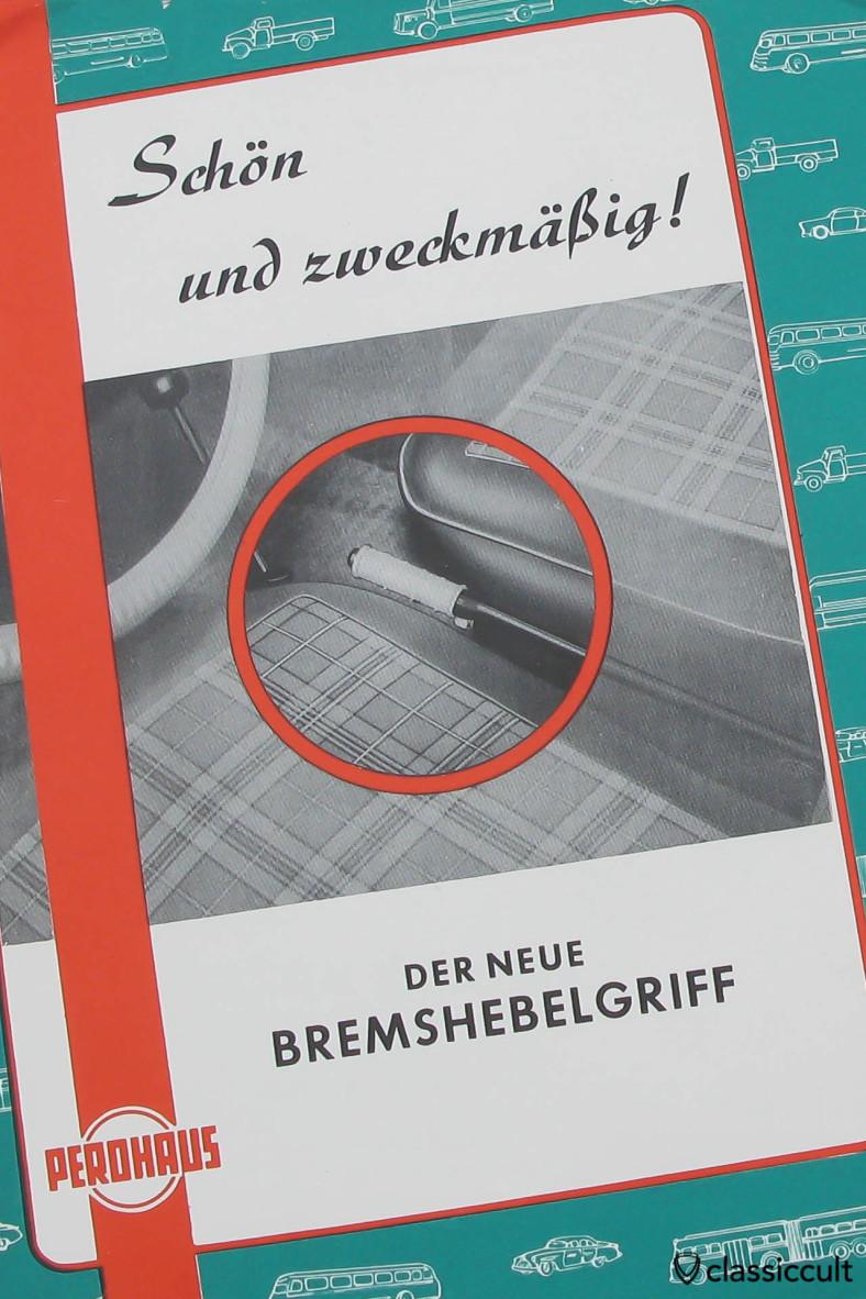 VW Beetle E-Brake Handle Cover Perohaus Accessory