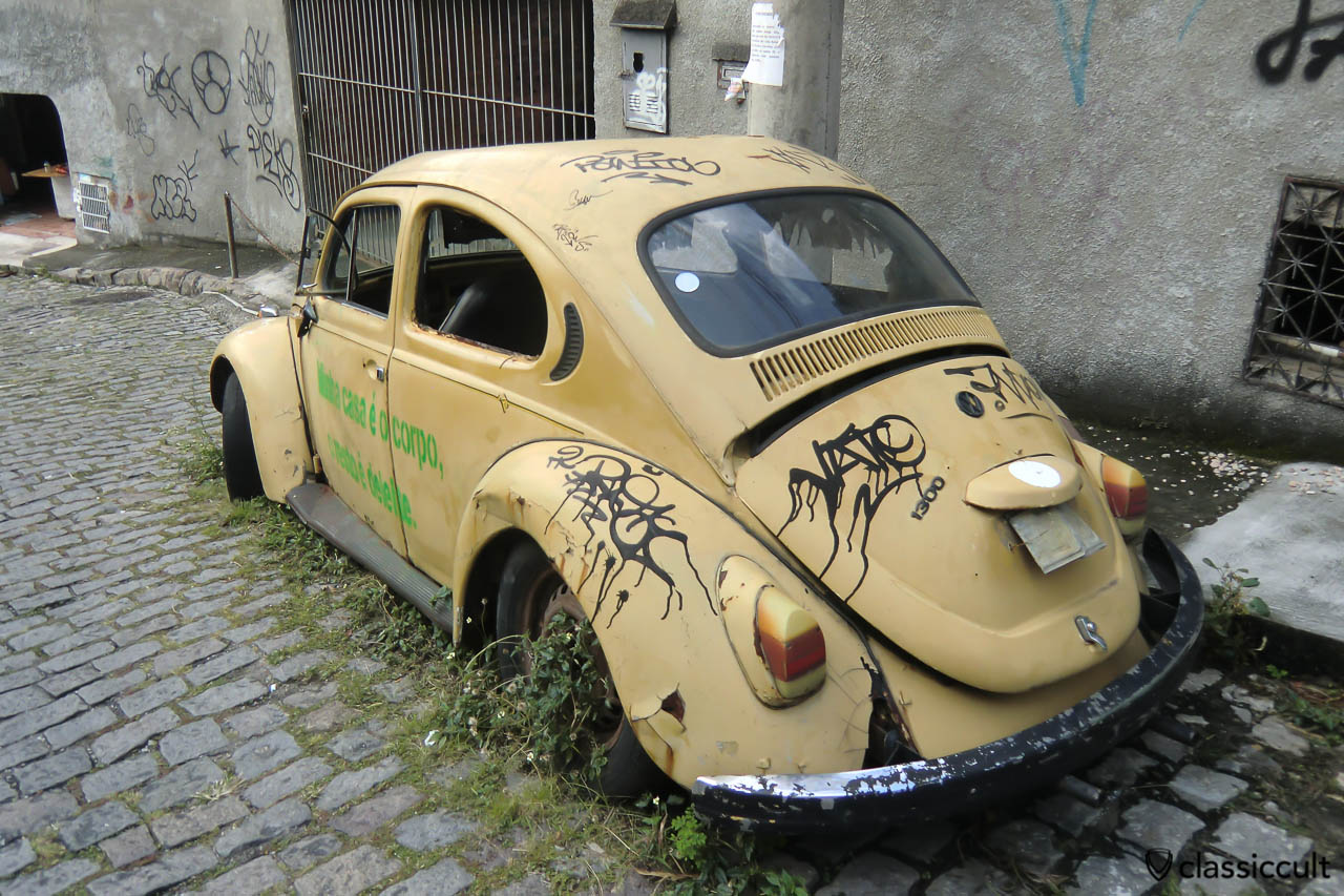 VW Beetle rusting in Santa Teresa, Rio de Janeiro, Brazil, May 23, 2013