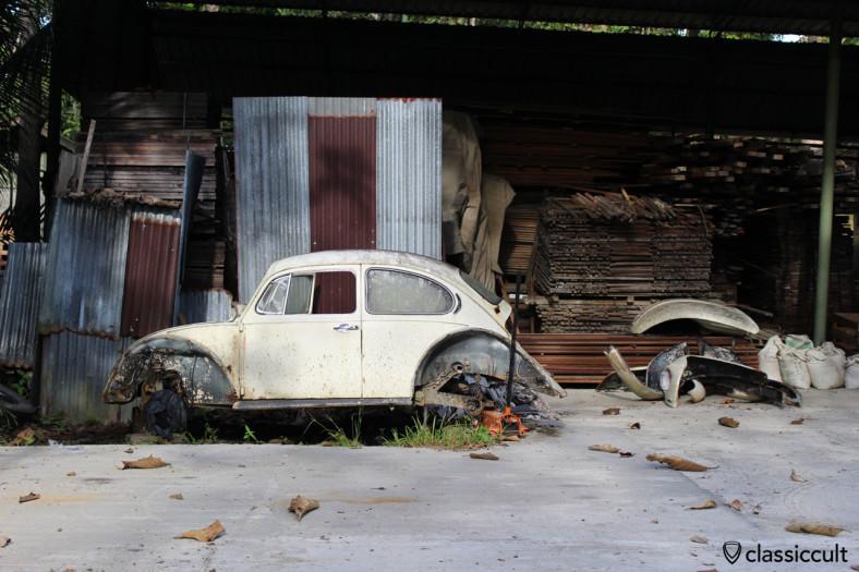 VW Beetle restoration project, Sepilok, Sabah, Borneo, Malaysia, April 20, 2014