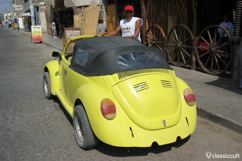 VW Bug 1300 Speedster Convertible Nazca Peru