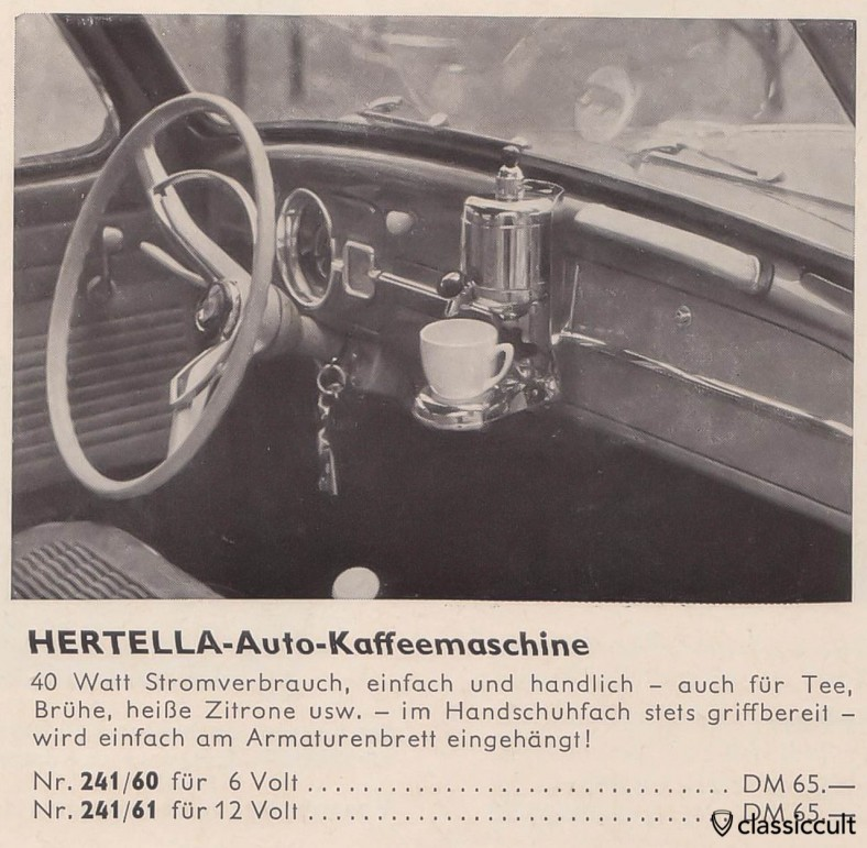 VW Bug 1959 Coffee Machine Hertella