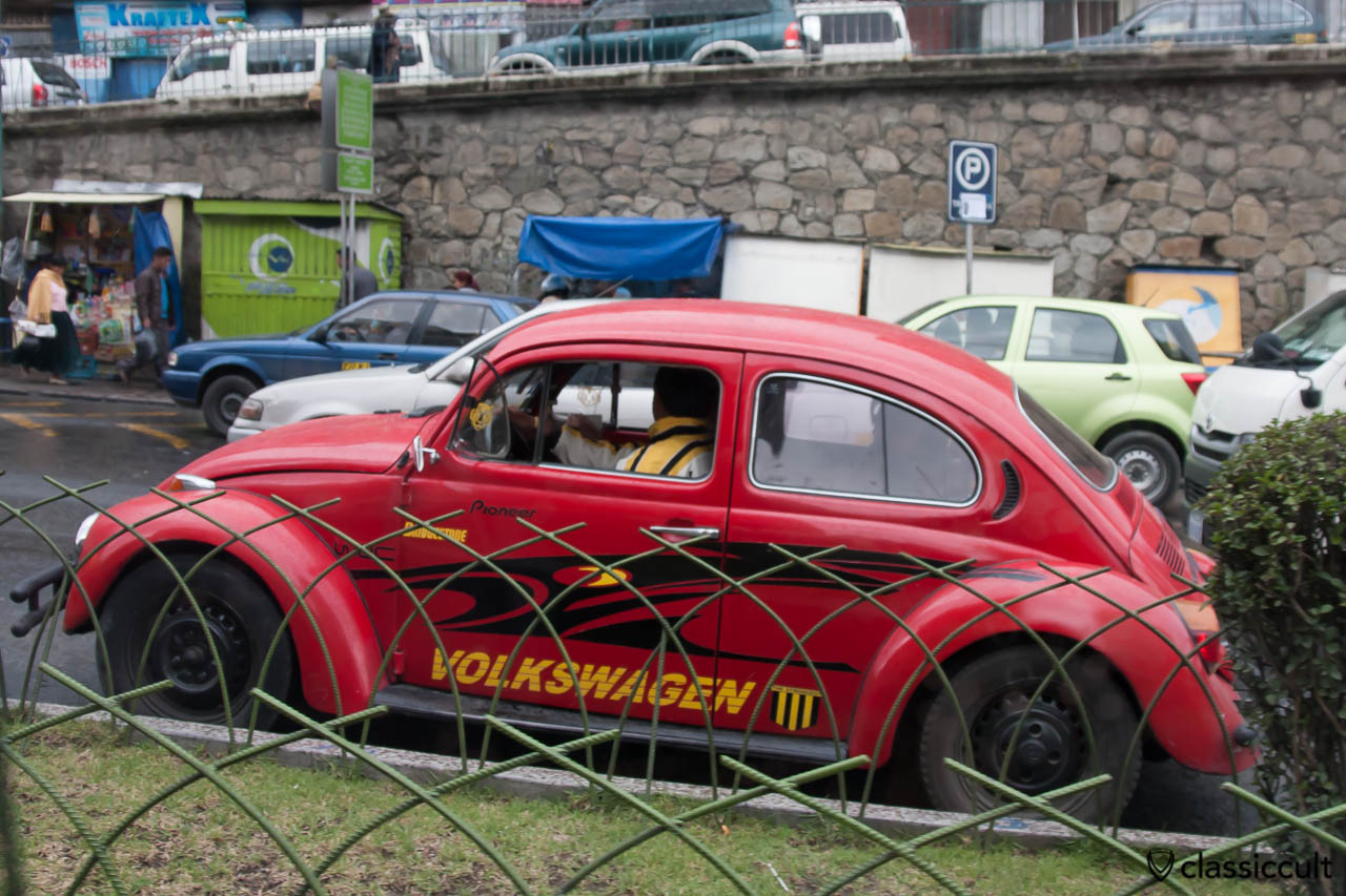 VW Bug in La Paz, Bolivia, May 18, 2013