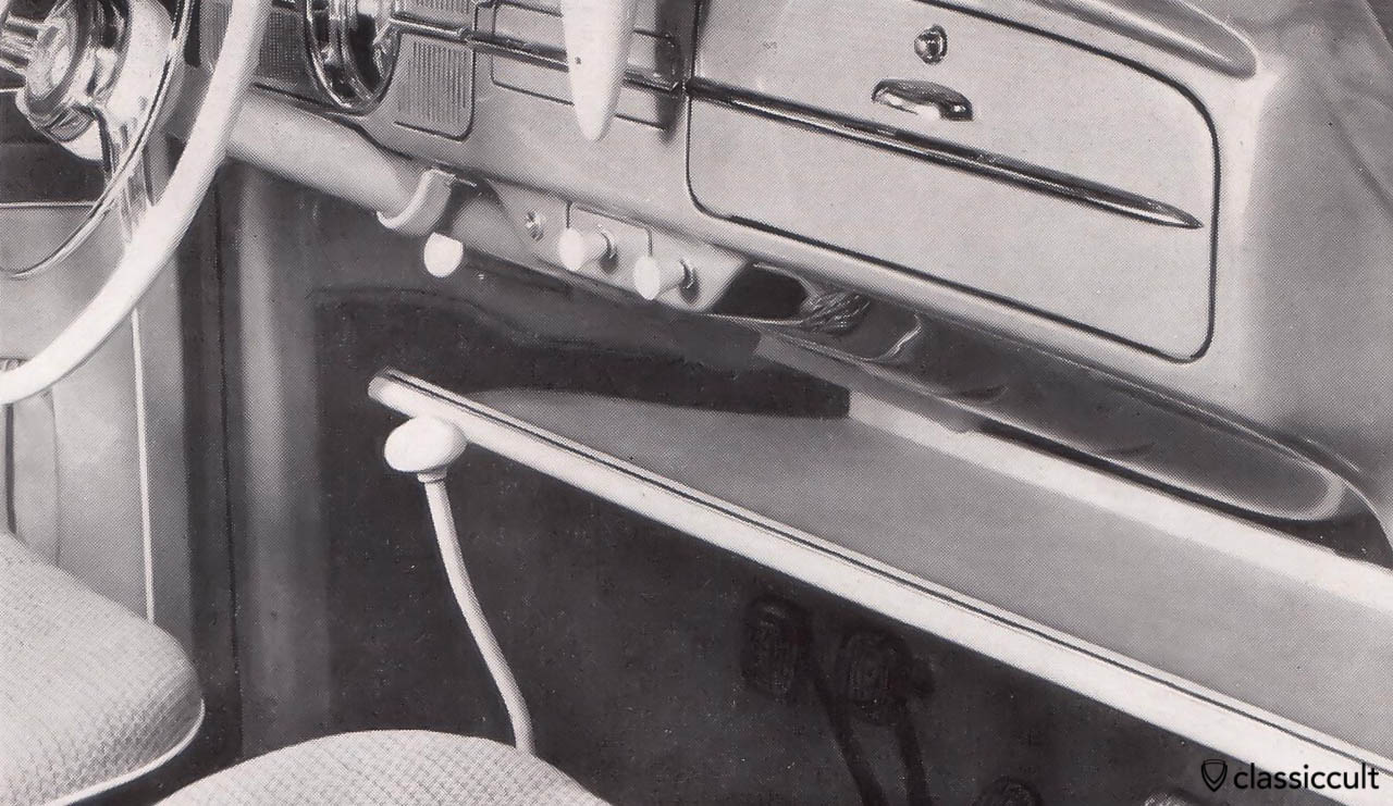 GHE Happich parcel tray in VW Bug 1958