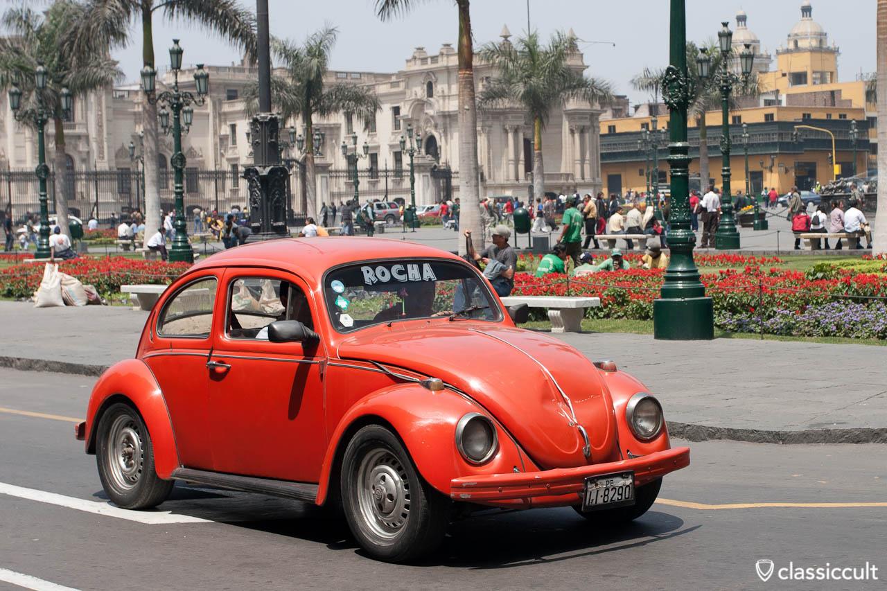VW Bug Plaza Mayor Lima Peru