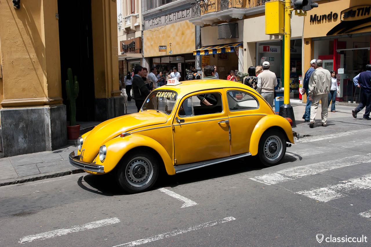 VW Bug Taxi Main Shopping Street Lima Peru