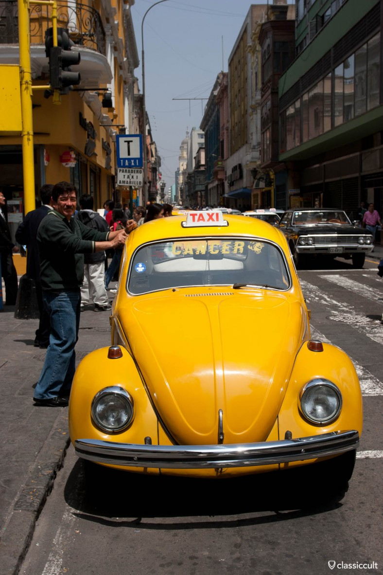 VW Bug Taxi Main Shopping Street Lima Peru