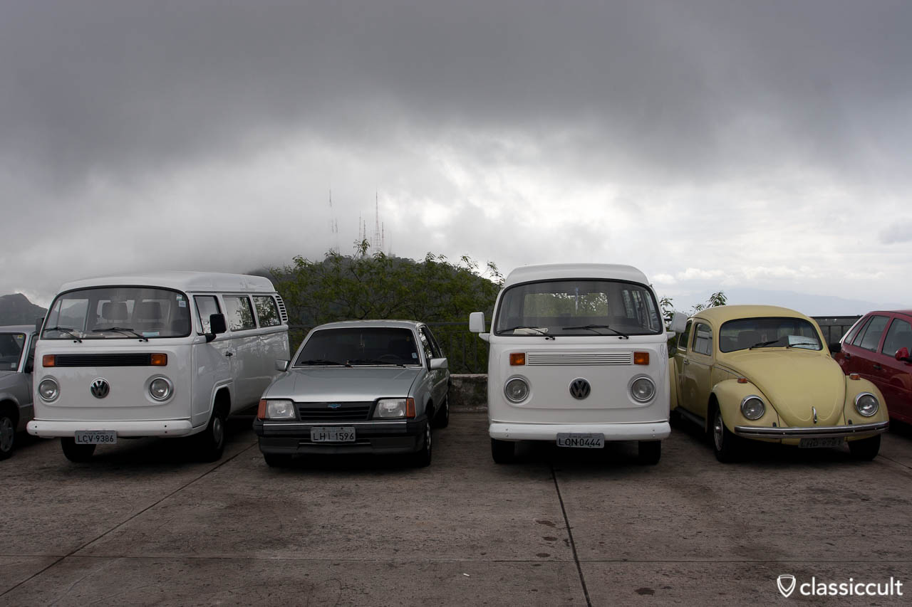 VW Bug Volkswagen T2 Bus Christ the Redeemer Statue Rio de Janeiro Brazil
