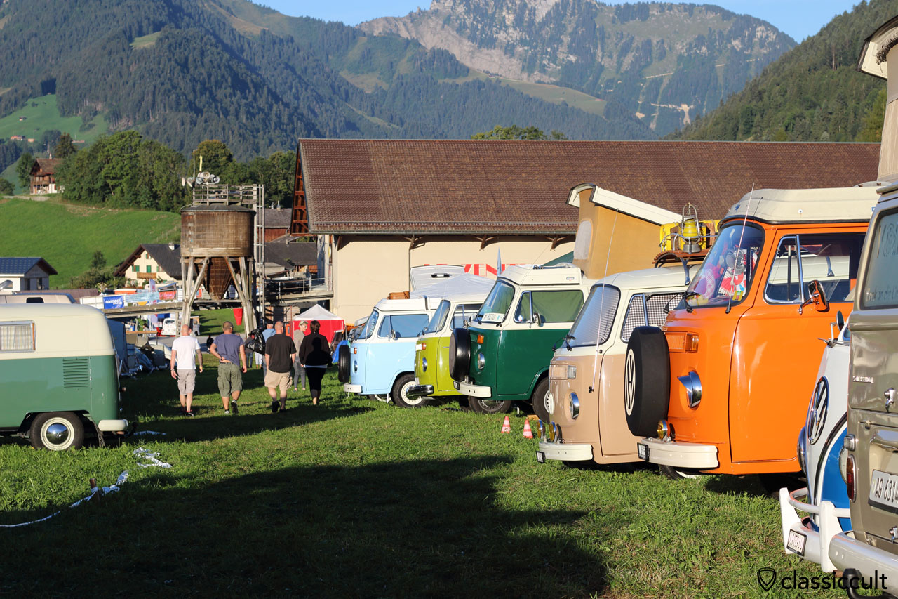 VW Camper Vans at Château-d'Oex VW Meeting 2015
