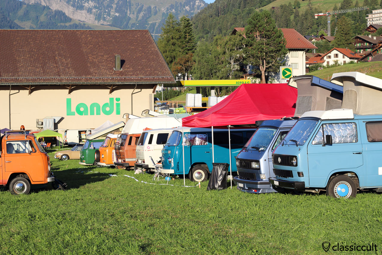 VW Camper Vans at campground