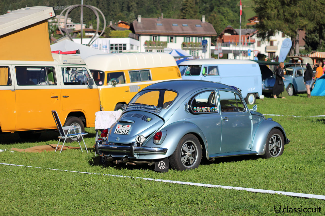 1972 VW Beetle with bumper guards