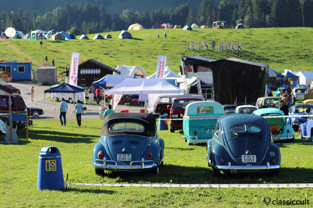 VW Convertible and Split Beetle