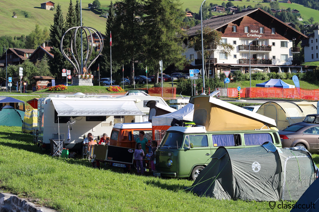 the small campground opposite of the big camping area