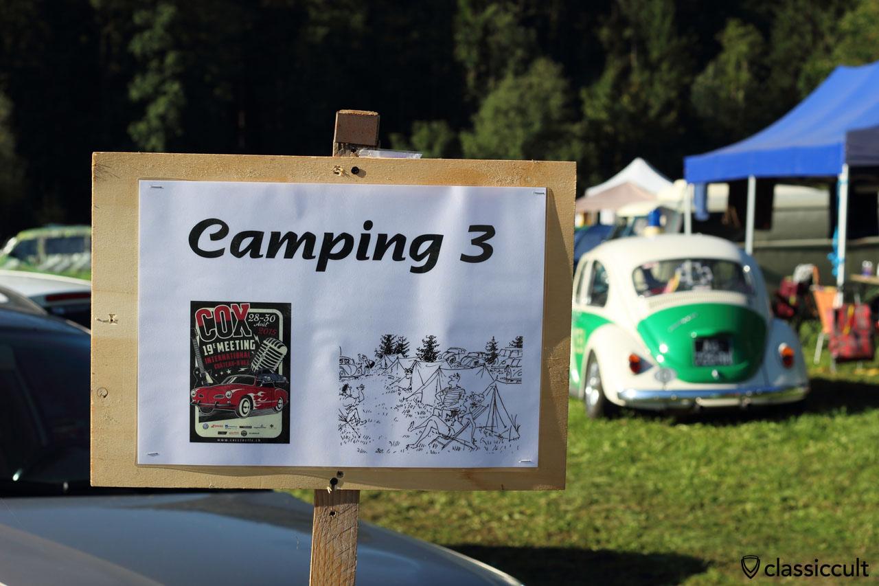 Camping 3 sign
