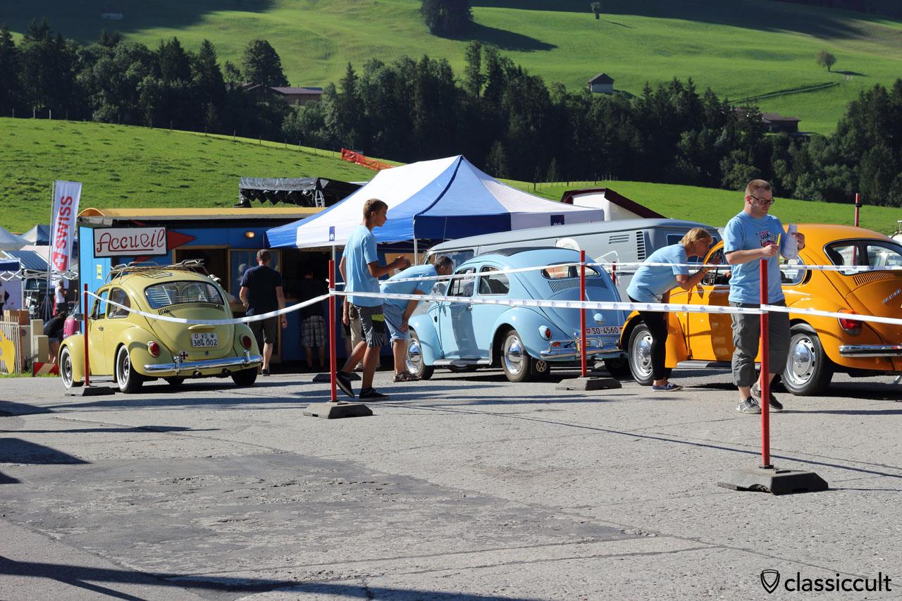 10:11 a.m. VW Beetles arriving