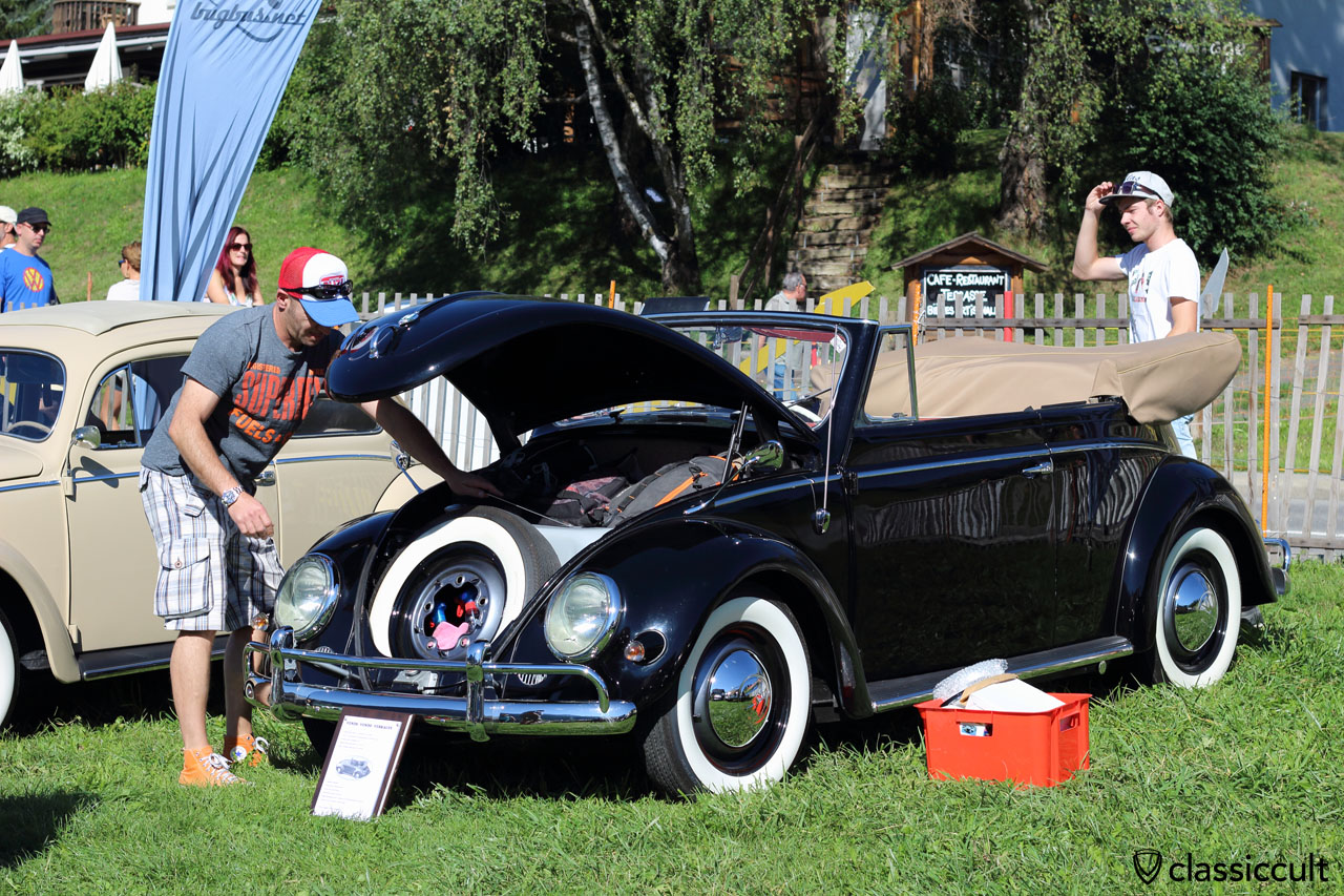 vintage VW Beetle convertible
