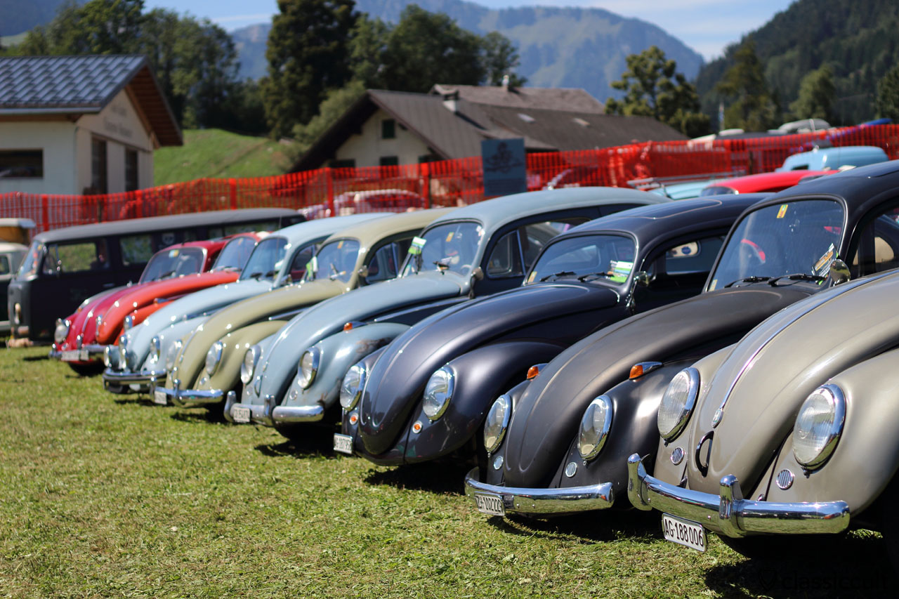 Beetles Line Up, Château-d'Oex VW meeting 2015