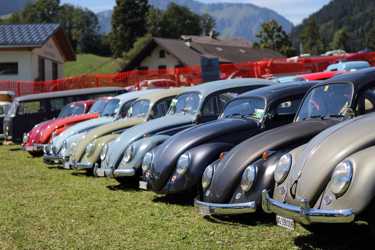 Beetles Line Up, Château-d'Oex VW meeting 2015