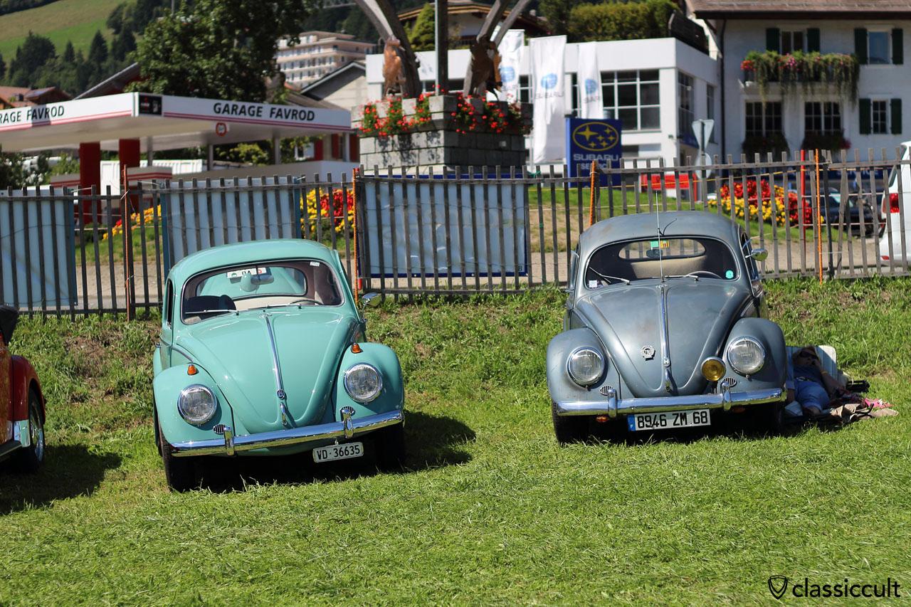 VW Oval Bug shadow, 1:26 p.m.