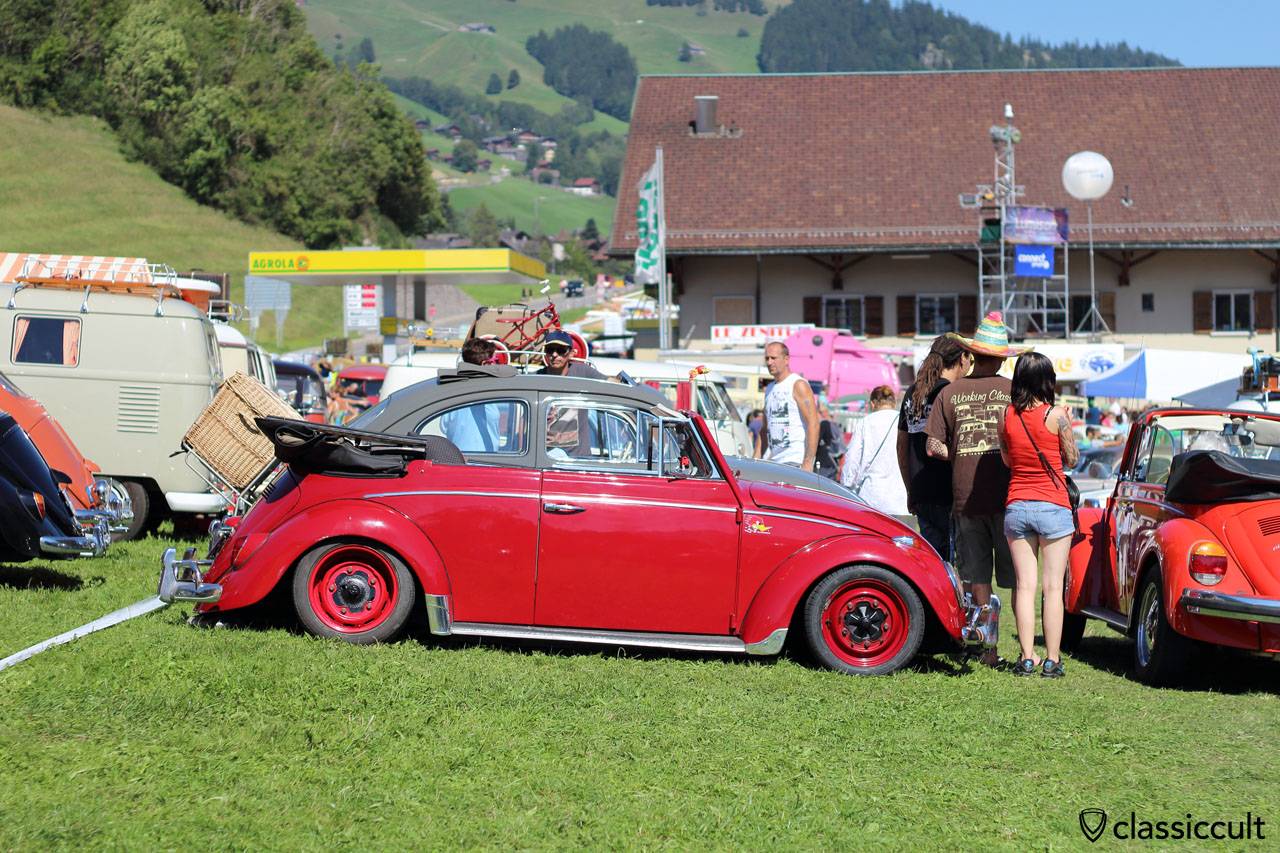 classic VW Convertible beetle, lowered