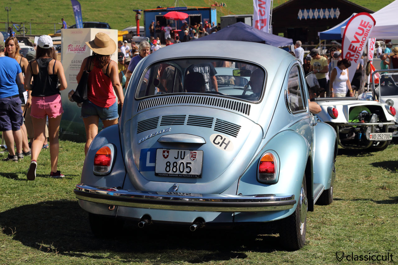 VW 1303 with CH sticker for Switzerland and L sticker for beginner
