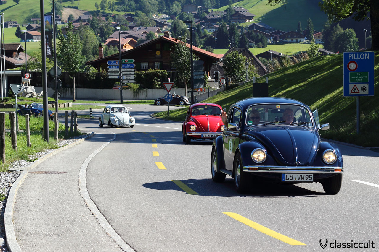 Two Beetle from Lö (Lörrach, Germany), Pays d'Enhaut VW Rally 2015