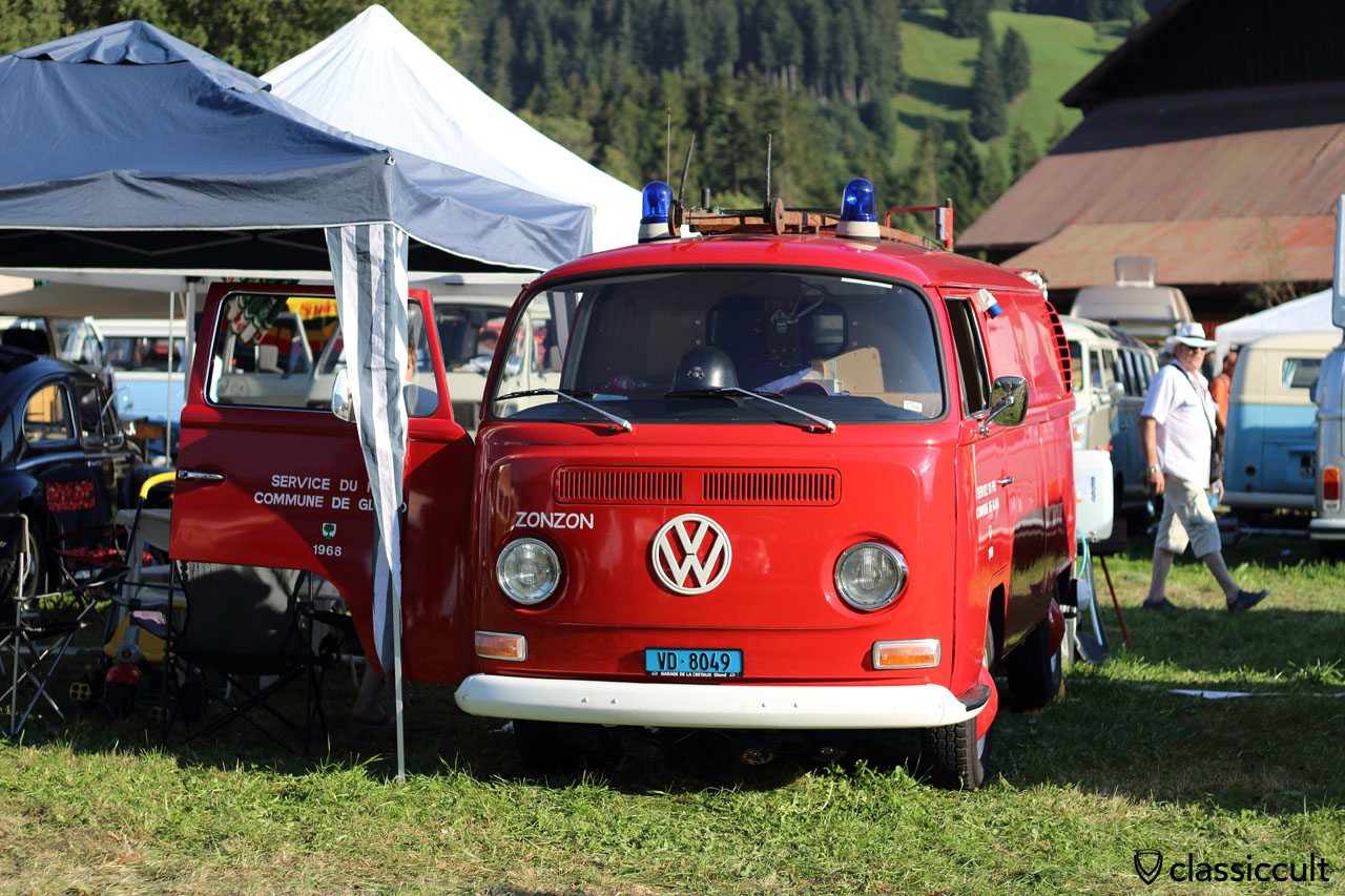 1968 VW T2a Panel Bus from Switzerland with blue flash lights