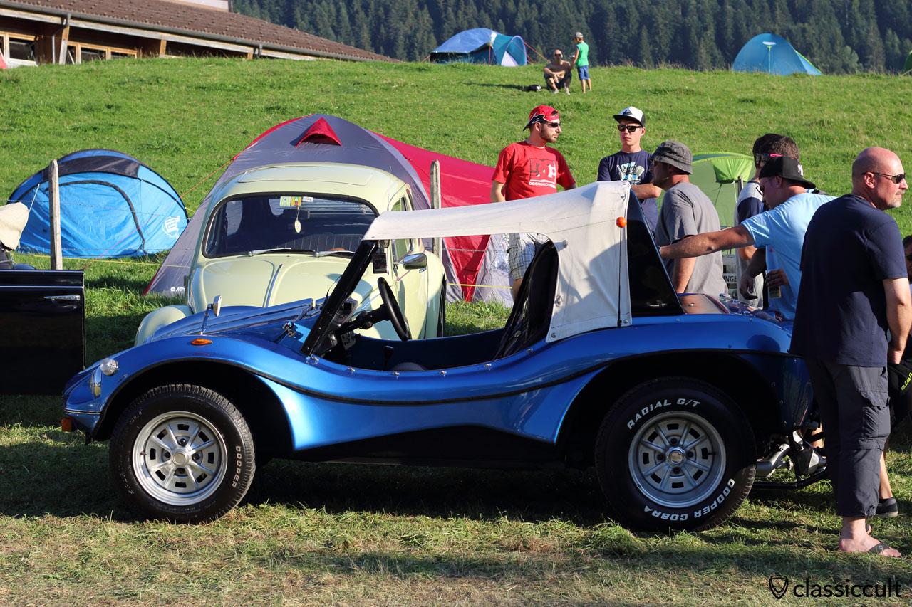 blue VW Buggy