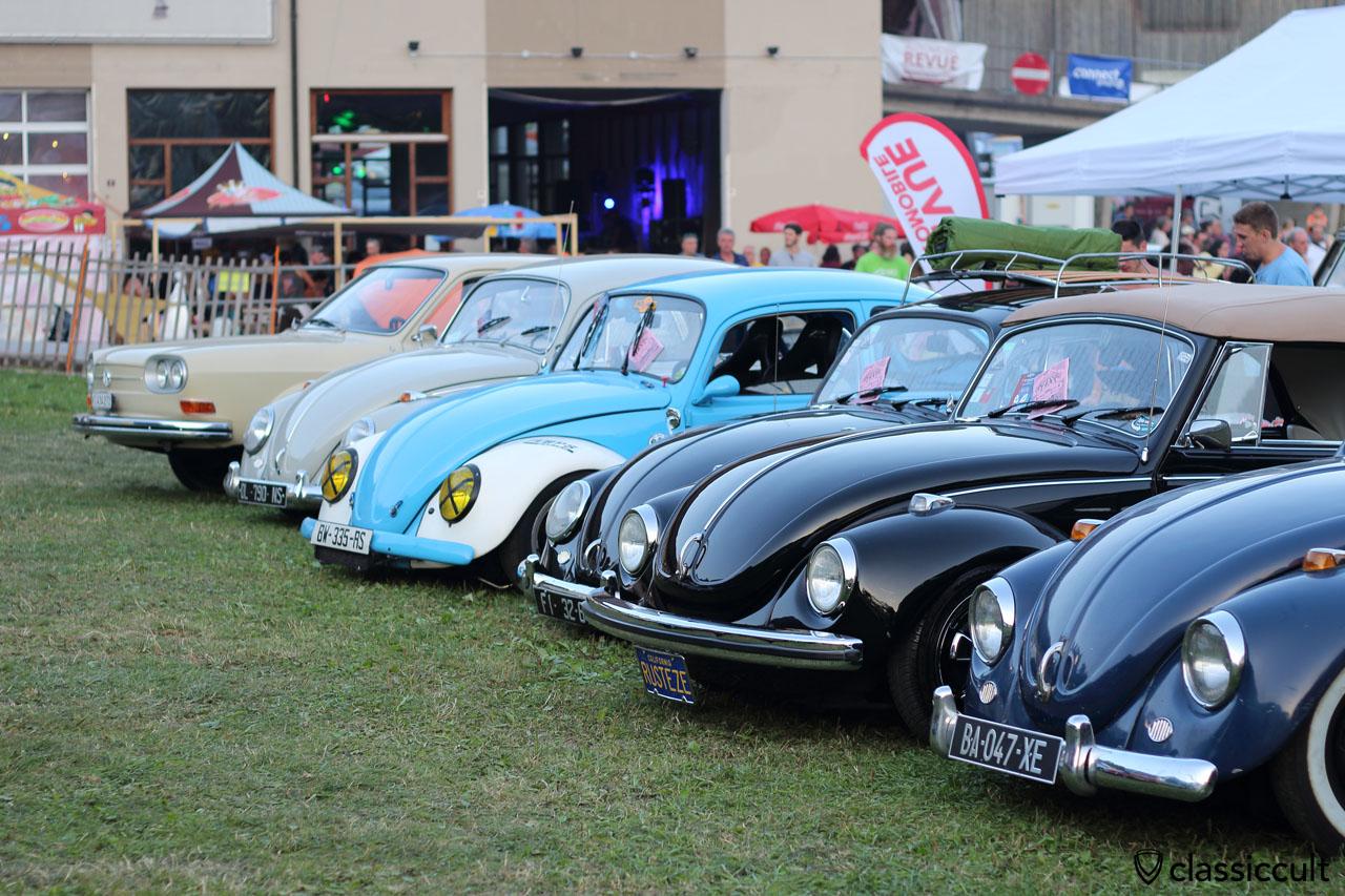 VW Cox line up, meeting Château-d'Oex 2015