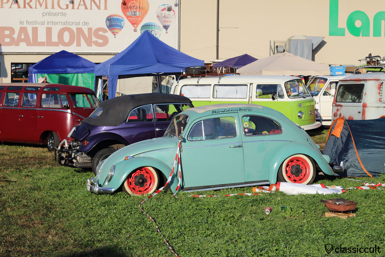 low VW Ragtop Beetle