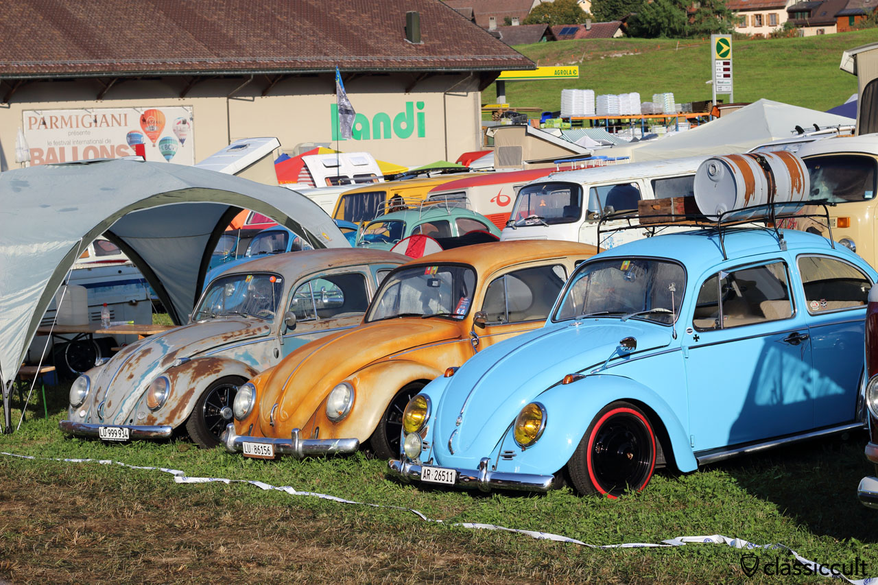 low Beetles, VW meeting Château-d'Oex 2015