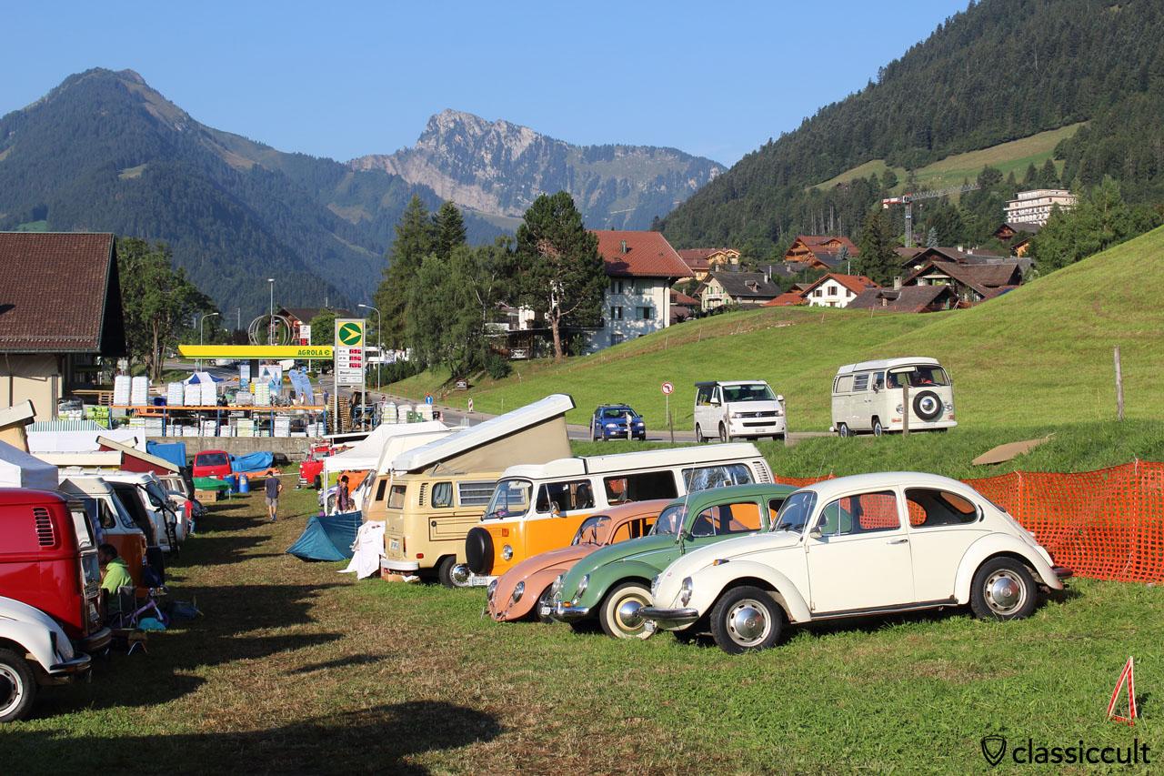 VW meeting Château-d'Oex, 8:56 a.m., Sunday, 2015