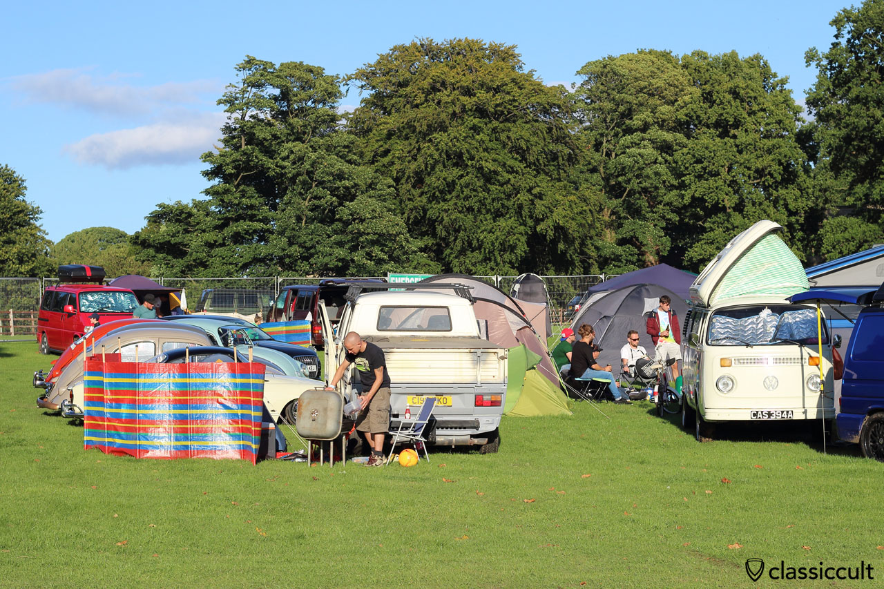 Camping at VW Festival 2015 Harewood House