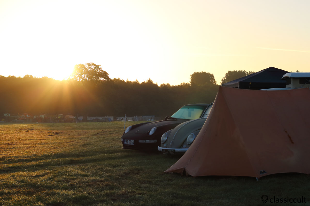Sunrise at VW Festival, Sunday 16th August 2015, Harewood House, Leeds, 6:13 a.m.