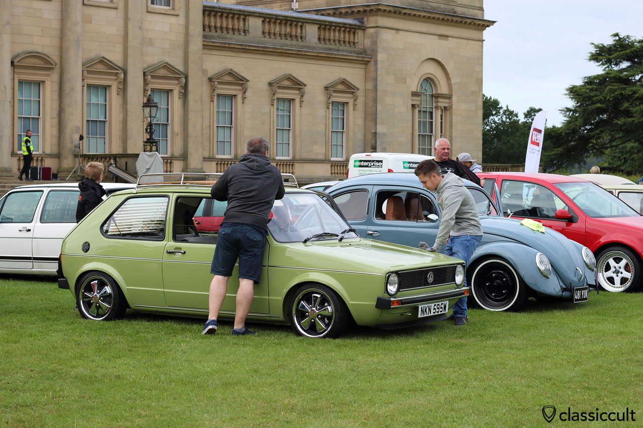 Golf MK1 with fuchs wheels, VW Festival 2015