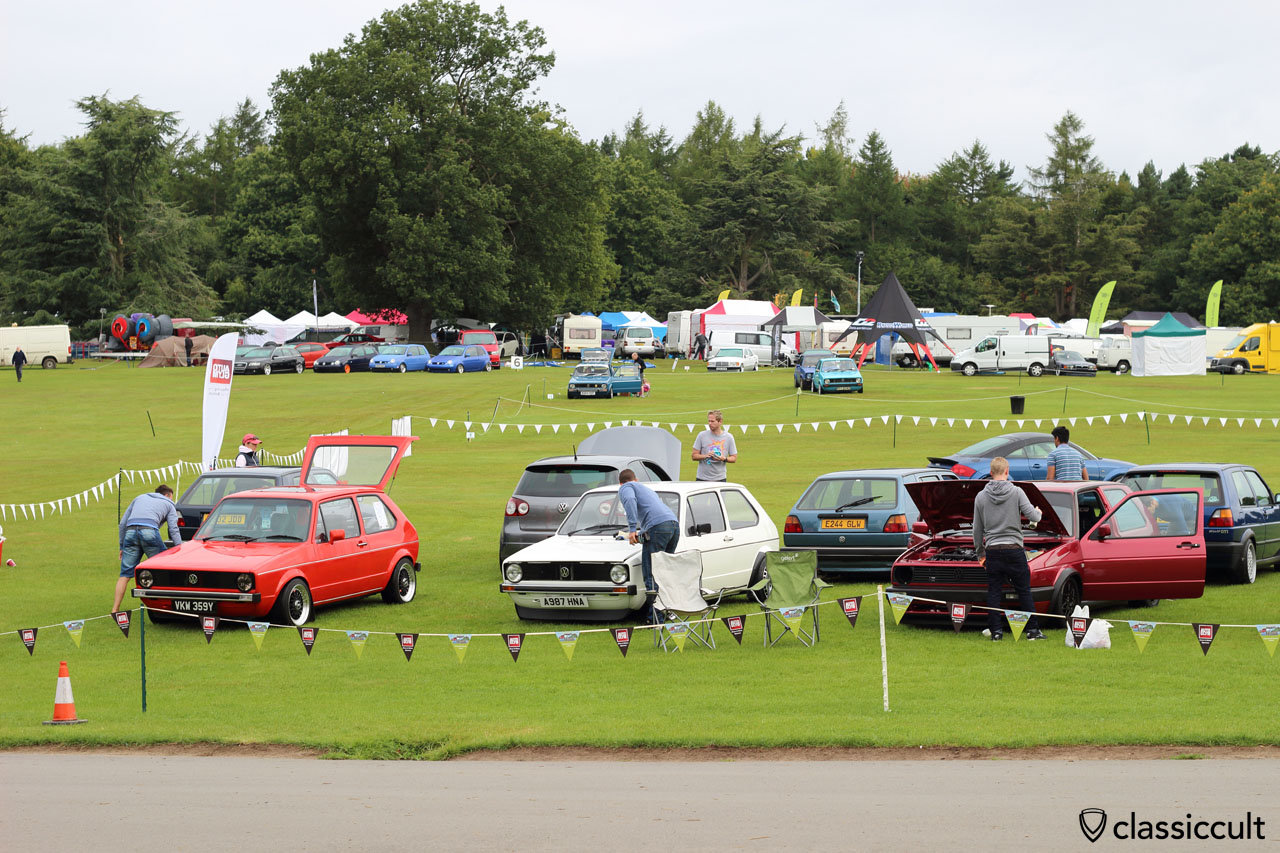Golf MK1 cleaning time, VW Festival 2015, 8:15 a.m.