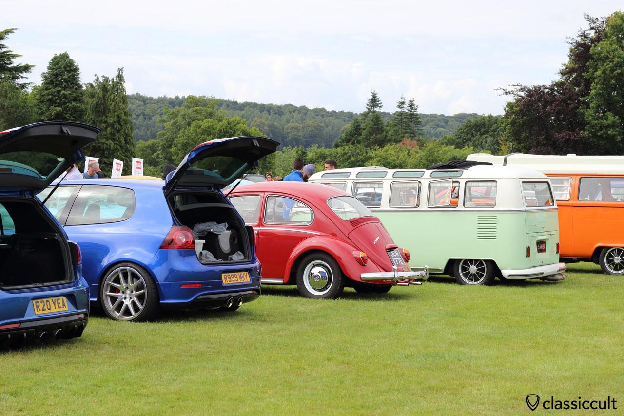 Golf MK5, Beetle, T1 Samba, VW Festival Harewood House 2015, 10:45 a.m.