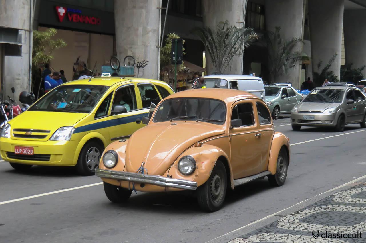 VW Fusca, Centro, Rio, Brazil, May 23, 2013