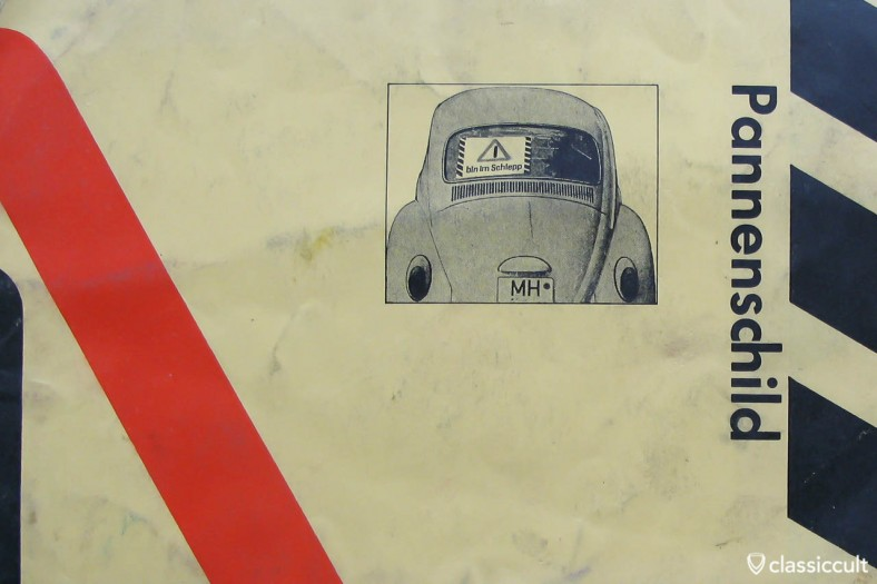 """1966 Volkswagen Bug on """"will be towed"""" sign"""