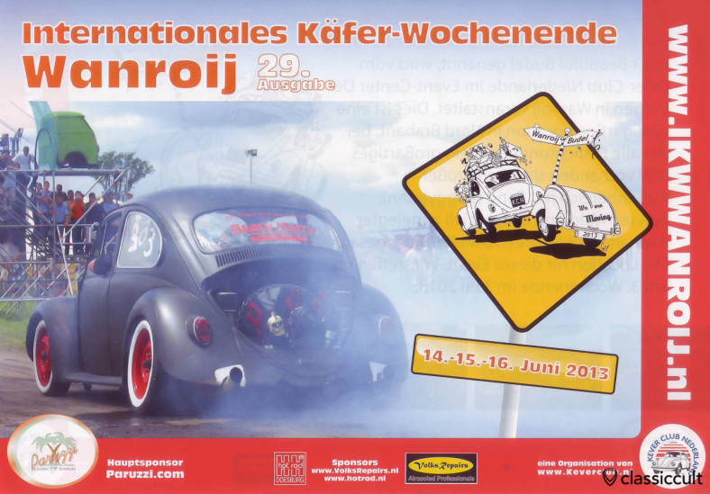 Internationales Käefer Wochenende IKW Wanroij Budel 14.06.2013 - 16.06.2013 Flyer