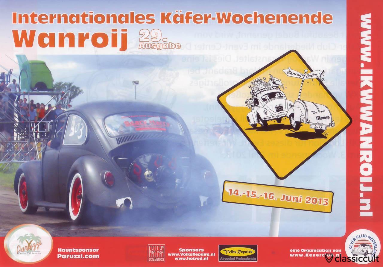 Internationales Käefer Wochenende IKW Wanroij Budel 14.06.2013 - 16.06.2013 Flyer