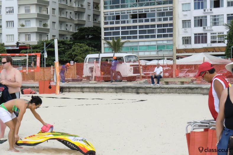 VW Kombi Totalflex Van, Copacabana Beach, Rio de Janeiro, Brazil, May 22, 2013