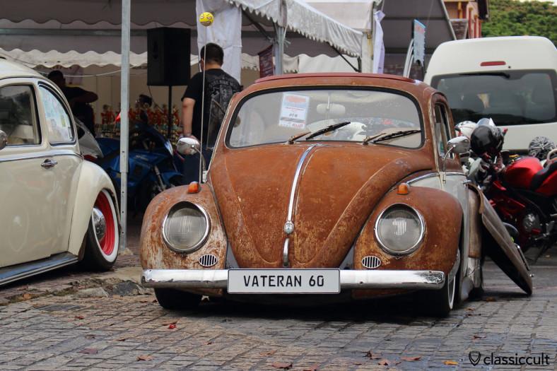 slammed VW Beetle VATERAN 60 front view, Kuching, Sarawak, Borneo, Malaysia, May 3, 2014