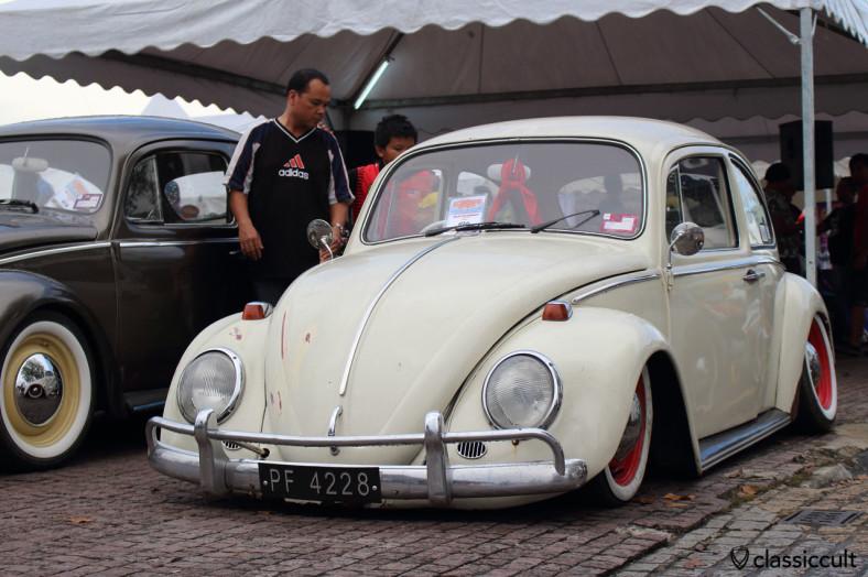 slammed VW Bug, the low & lazy, Kuching, Sarawak, Borneo, Malaysia, May 3, 2014