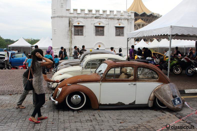 slammed VW Beetle VATERAN 60 side view, Kuching, Sarawak, Borneo, Malaysia, May 3, 2014