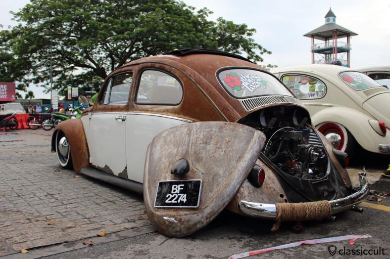 slammed VW Beetle VATERAN 60 rear view, Kuching, Sarawak, Borneo, Malaysia, May 3, 2014